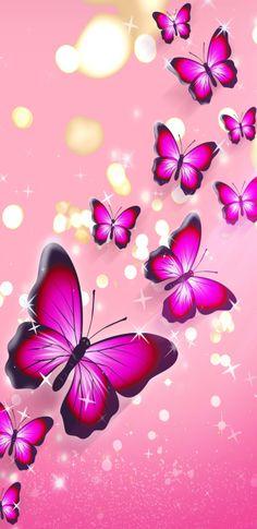 Pink wallpaper with beautyful butterflies. Dragonfly Wallpaper, Blue Butterfly Wallpaper, Bling Wallpaper, Flower Phone Wallpaper, Love Wallpaper, Cellphone Wallpaper, Galaxy Wallpaper, Wallpaper Backgrounds, Butterfly Drawing