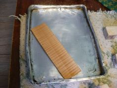 Piece of maple wood in boiling water.