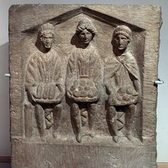 three mother goddesses, Celtic objects of worship from Roman times