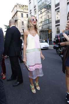 Minimalist White Sheer Dress - Street Style  #TopshopPromQueen  Fallen in love with this dress!