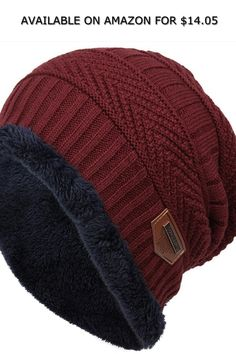 Chiak Women Men Fashion Fleece Contrast Color Beanie Knitted Warm Winter Hats Caps ◆ AVAILABLE ON AMAZON FOR: $14.05 ◆ Specifications:6 Colors: Navy Blue, Dark Red, Khaki, Dark Gray, Coffee, BlackMaterial: FleeceType: BeaniePattern: Contrast ColorDimension: 27 x 48 cm/ 10.6 x 18.9 inch (Depth x Head Circumference)Garment Care: Washing max 30?.Good elasticity, soft, comfort to wear.Stretchy, adjustable design.Very comfortable, stylish and warm slouch beanie hat.Perfect in keeping you warm and… Men Fashion, Fashion Brands, Fashion Accessories, Warm Winter Hats, Slouch Beanie, Contrast Color, Dark Red, Caps Hats, Plus Size Outfits