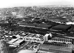 Pátios ferroviários da Lapa, foto da década de 1950