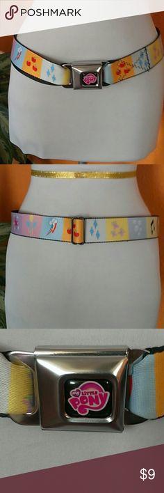 Buckle Down Belt Buckle Down Belt, my little Pony adjustable, color black and multicolors Buckle Down Accessories Belts