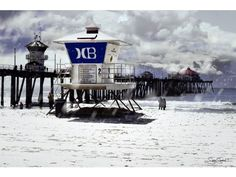 Icy weather in Huntington Beach, CA