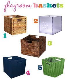 IHeart Organizing: Playroom Progress: A Bunch of Baskets!