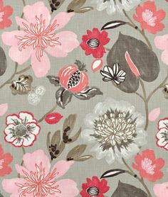 This Braemore Gorgeous Blossom Fabric is perfect for a chair in a little girls room and she would never outgrow the pattern.