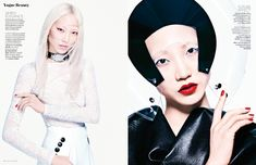 SOO JOO PARK PAINTS IT RED FOR VOGUE THAILAND BEAUTY STORY