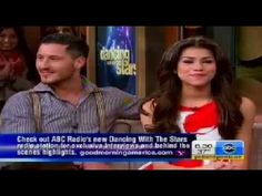 Zendaya FUNNY GMA Interview about Dancing With the Stars - Shake IT Up Star with partner Val