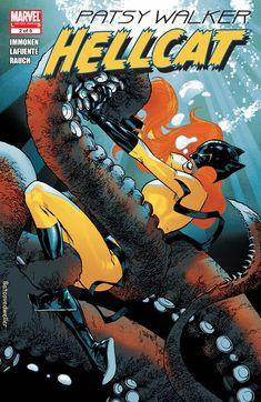 Patsy Walker: Hellcat Cover: Hellcat Marvel Comics Poster - 61 x 91 cm Marvel Defenders, Marvel Dc Comics, Marvel Heroes, Marvel Avengers, Marvel Comic Character, Comic Book Characters, Marvel Characters, Comic Books, Comics