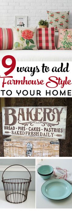 9 Ways to Add Farmhouse Style to your Home