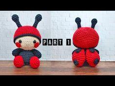 Crochet Throw Pattern, Crochet Amigurumi Free Patterns, Crochet Dolls, Crochet Throws, Crochet Ladybug, Cute Crochet, Accessoires Mini, Crochet Hair Accessories, Popular Crochet
