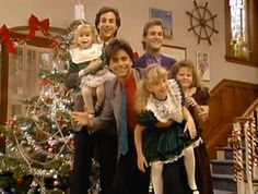 """""""Full House"""" (1988) - Episode: Our Very First Christmas Show Christmas Tv Shows, Christmas Episodes, Christmas Past, Vintage Christmas, Christmas Movies, Christmas Photos, Full House Season 1, Full House Tv Show, Michael Champion"""