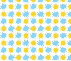 Sun and Clouds for Bunny Collection fabric by kiwiandsteve on Spoonflower - custom fabric