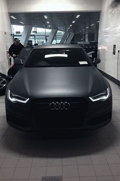 Matte Black  There is something cool with having a car matte black!