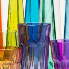 Frühlingszeit - Bunte Gläser und Flaschen SpringtimeColored glasses and Bottles Fotografie Günter Lenz - Buy on www.3aART.de for your home or office