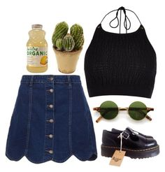 """""""I miss you"""" by draaayya ❤ liked on Polyvore featuring River Island, Dr. Martens and Nearly Natural"""
