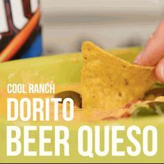 This Doritos Ranch Queso Is The Drunk Snack You Deserve Appetizer Dips, Appetizer Recipes, Dinner Recipes, Doritos Recipes, New Recipes, Favorite Recipes, Yummy Recipes, Guacamole Dip, Velveeta