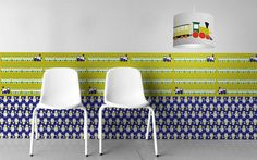 Bordüre Trains - Designer Tapeten DecorPlay