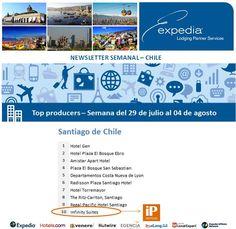 Felicitaciones al Infinity Suites en #Chile, 10º Puesto en Ventas de Expedia para la Semana del 29 de julio al 04 de agosto de 2013 de 2013