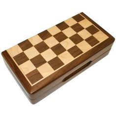 Frances 12 Inch Chess Folding Inlaid Wood Board Game with Wooden Pieces - Listing price: $49.99 Now: $39.95