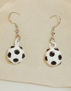Pendientes fútbol cristales-Negro EUR€5.25