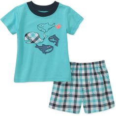 Child of Mine by Carters Newborn Boy Shirt and Shorts Set: Baby Clothing : Walmart.com
