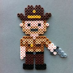 Rick Grimes The Walking Dead Perler Bead Character Magnet by HarmonArt