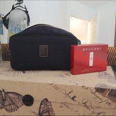 Longchamp Toiletry Cosmetic Bag Longchamp Toiletry Cosmetic Bag. Large. Navy/Brown. Longchamp Bags