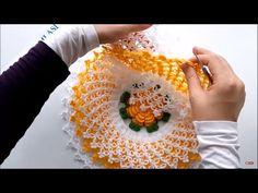 Ces abscisse en même temps que broche ces plus bas - Tricot Pontos Motif Mandala Crochet, Crochet Motifs, Crochet Doilies, Crochet Flowers, Crochet Stitches, Crochet Patterns, Crochet Classes, Crochet Videos, Crochet Projects