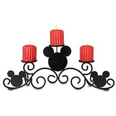 Disney Mickey Mouse Candle Holder | Disney StoreMickey Mouse Candle Holder - Perfect on a mantle or table, our Mickey Mouse Candle Holder displays three pillar candles with elegance and a touch of whimsy. Complete the look with our Mickey Mouse Fireplace Screen and Tools (sold separately). A Disney Store.com exclusive.