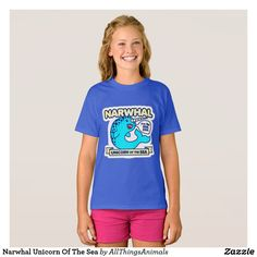 Wait 'till you get this tagless Narwhal Unicorn Of The Sea tee on your kiddo. It'll take his everyday style to a whole new level.