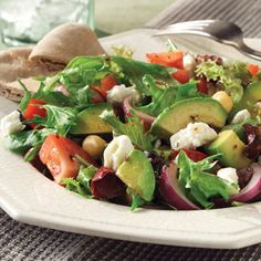 Mediterranean Salad with Feta Cheese | MyRecipes.com