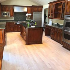 No better way to contrast dark rich cabinets, than with a clean Northern Maple hardwood. No rule of thumb applies when selecting a hardwood floor for your home. No right or wrong, let your imagination go! #hardwoodfloors #homedecor #craftsmanship #flooring #homerenovation #kitchen #sanmateo #maplefloors #colorcontrast #peninsula #bayarea #floor #floorwork #PeninsulaHardwoodfloors #contractor #paloalto #montereylocals #pacificgrovelocals- posted by Peninsula Hardwood Floors…