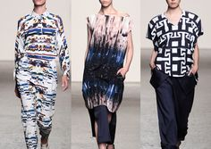 Zero + Maria Cornejo S/S 2014  Fractured Mirror Print – Bold Geometric – Pixelated Glitch – Block Prints –Manipulated Computer Imagery, Kaleidoscopic Aspects – Filtered imager and Pattern Forms