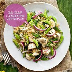 28-day clean eating dinner plan
