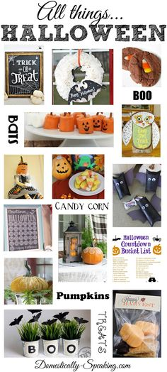 All Things Halloween - tons of great Halloween crafts, decor and recipes!