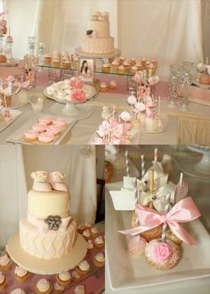 shabby chic baby cakes | MKR Creations: Shabby Chic Baby Shower