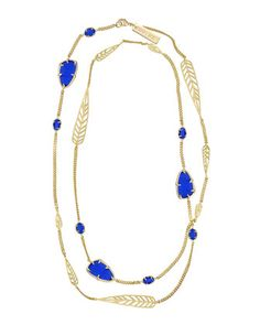 Marla+Long+Necklace,+Cobalt+by+Kendra+Scott+at+Neiman+Marcus+Last+Call.