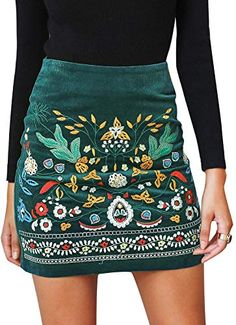 online shopping for BerryGo Women's High Waist Embroidered Mini Skirt Boho Floral Pencil Skirt from top store. See new offer for BerryGo Women's High Waist Embroidered Mini Skirt Boho Floral Pencil Skirt Floral Pencil Skirt, High Waisted Pencil Skirt, Pencil Skirts, Midi Skirts, Very Skinny Girls, Mode Russe, Winter Rock, Fall Winter, Bohemian Mode
