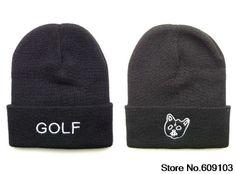 Hip-Hop Unisex GOLF WANG Beanies Wen's Women's Winter knit Cotton wool Hats Snapback caps 1pcs/lot $9.99