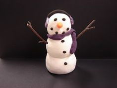 For the Love of Art: 3rd Grade: Snowman Sculpture