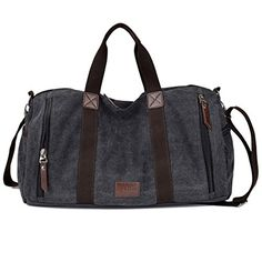 S Cool Shop High Capacity Weekend Travel Duffel Canvas Material With Many Pockets