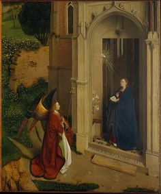 The Annunciation // ca. 1450 // Attributed to Petrus Christus