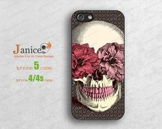 floral skull iphone 5s case,iphone 5c case, phone 5c cases,iphone 4 cases,iphone 5 cases, iphone cases 4/5,iphone protector B0245 on Etsy, $7.60 AUD
