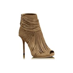 'akerman' high heel open-toe bootie. ($1,190) ❤ liked on Polyvore featuring shoes, boots, ankle booties, scarpe, zapatos, sapatos, gucci boots, suede ankle boots, suede bootie and open toe ankle boots