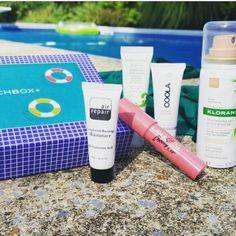 #Repost @kirsten_petersen1  Loving my august @birchbox. Spent it pool side with my new sunscreen. #birchbox #augustsamples #poolside  #airrepair