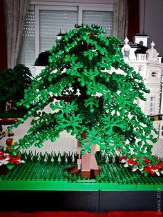 The Hobbit Game, Lego Tree, Lego Modular, Lego Castle, Custom Lego, Lego Moc, Christmas Tree, Christmas Ornaments, Lego Building