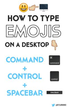 Have you ever wanted to have emoji's on your desktop? Try this tip: hold Command + Control + Spacebar.  For instance, if you want to have an emoji on twitter you can use hold Command + Control + Spacebar to bring up a selection of choices.