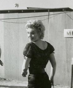Marilyn on the set of Bus Stop, 1956.