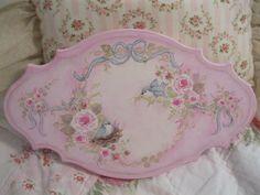 Bluebirds and Roses Plaque!!!- just listed on ebay!!! - http://www.ebay.com/itm/390860138628?ssPageName=STRK:MESELX:IT&_trksid=p3984.m1555.l2649